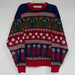 Crossings Men's Ugly Sweater Golf Themed Size XL